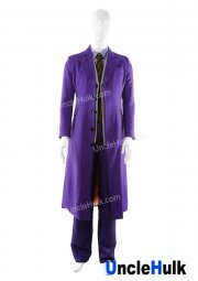 Batman Dark Knight Rise Joker Cosplay Costume (Coat+Vest+Shirt+Pants+Tie)