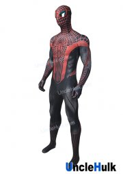 Black and Red Spiderman Lycra Zentai Bodysuit Halloween Cosplay Costume | UncleHulk