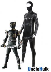 Masked Rider Ryuga Black Cosplay Costume Bodysuit - Rubberized Fabric | UncleHulk