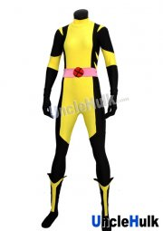 X-men Wolverine Yellow and Black Spandex Lycra Costume