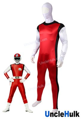 Choshinsei Flashman Red Flash Jin Cosplay Bodysuit | UncleHulk