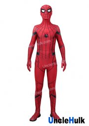 Red Spiderman Homecoming Cosplay Costume Spandex Lycra Zentai Bodysuit | UncleHulk