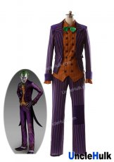 Batman Arkham Asylum: Joker Cosplay Costume (Coat+Vest+Shirt+Pants+Tie)