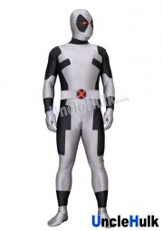 Grey Deadpool Lycra Zentai Bodysuit