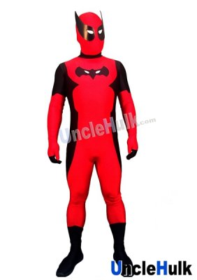 Bat Deadpool Lycra Zentai Bodysuit