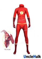Flash Zentai Lycra Cosplay costume - red (include hood)