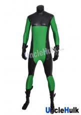 Green and Black Lycra Zentai Bodysuit