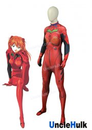 EVA-02 Production Asuka Langley Soryu Spandex Zentai Suit Halloween Cosplay Costume