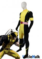 X-men Wolverine Yellow and Black Spandex Lycra Costume | UncleHulk