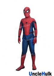 High Quality Spiderman Homecoming Costume (Tom Holland Spiderman Suit) with Black Leather