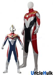 Ultraman Dyna Cosplay Costume Rubberize Fabric and Immitation Leather - with gloves | UncleHulk