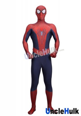 Classic Spiderman 2 Lycra Zentai Bodysuit (include lenses and shoes\' soles)