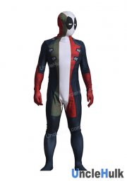 Colorful Deadpool Printed Lycra Zentai Bodysuit (with rubber lenses)