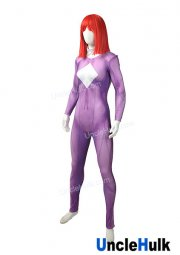 Violet and White Spandex Lycra Cosplay Costume | UncleHulk