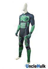 Black and Green Spandex Lycra Cosplay Costume - with needlework trace figure | UncleHulk