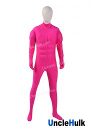 Pink Sponge Slight Muscle Shape Lycra Zentai Suit Halloween Costume - color can be changed | UncleHulk