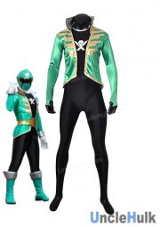 Kaizouku Sentai Gokaiger Green Soldier Fancy Costume