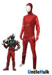 Blood Stark Kamen Rider Build 2017 Lycra Spandex and Red PU Fabric Cosplay Costume | UncleHulk