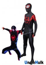 Spider-Man: Into the Spider-Verse Lycra Cosplay Costume with lenses SP166 | UncleHulk