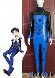 EVA Ikari Shinji Cosplay Costume PU Fabric - include gloves - A0904 | UncleHulk