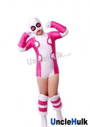 Deadpool GwenPool Pink and White Spandex Lycra Costume
