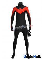 Red Nightwing Costume | Black and Red Spandex Lycra Catsuit