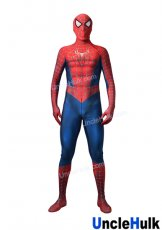 Light Red and Blue Spiderman Zentai Costume with lenses