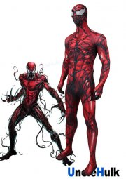 Carnage Cletus Kasady Red Venom Zentai Cosplay Costume Including Lenses | Unclehulk
