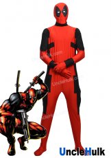 Simplified Deadpool Lycra Zentai Costume (with rubber lenses) | UncleHulk