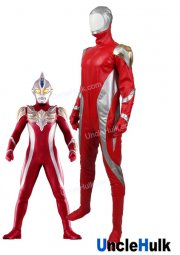 Ultraman Max Cosplay Costume Rubberize Fabric - with bracers and gloves and foot cover | UncleHulk