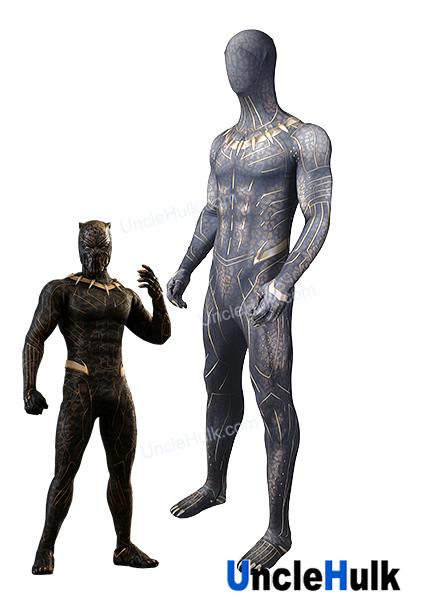 Erik Killmonger Golden Jaguar Movie Black Panther 2018 Spandex Zentai Suit Cosplay Costume Unclehulk Unclehulk Com Studio