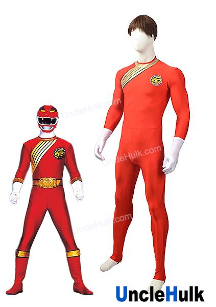 Hyakujuu Sentai Gaoranger Kakeru Shishi The Blazing Lion Spandex Zentai Costume Red Unclehulk Unclehulk Com Studio