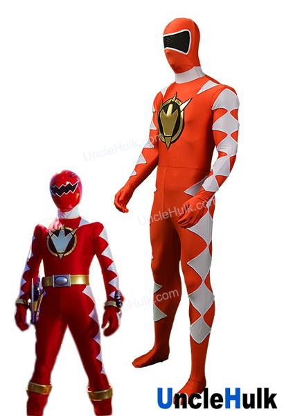 Power Rangers Dino Thunder AbareRed Red Ranger Spandex Lycra