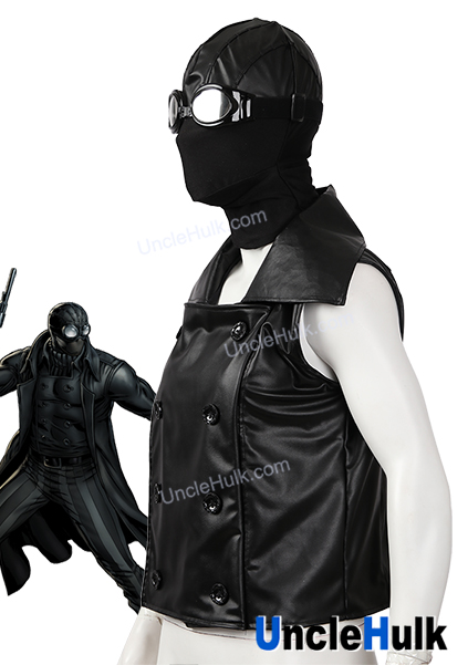 bec06121382 Spider-man Noir Cosplay Costume - hood and glasses and jacket ...