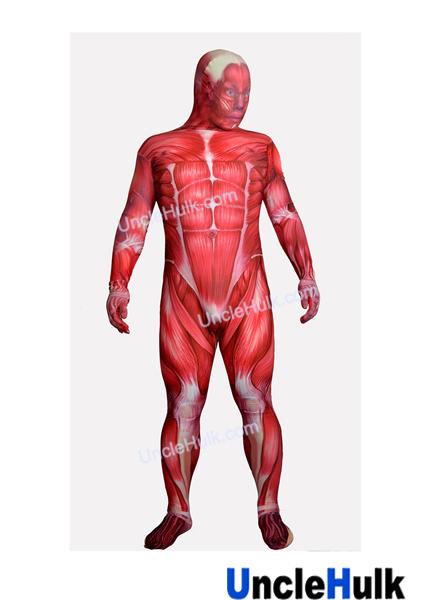 Muscle Anatomy Zentai Spandex Lycra Bodysuit Fullbody Costume ...