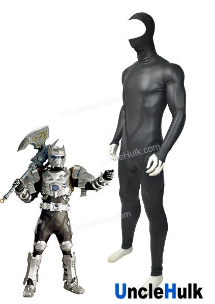 armor hero rhino man lycra spandex cosplay costume halloween suit unclehulk