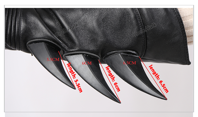 Genuine Leather Batman Gloves - With Rubber Thorn - only one size | UncleHulk