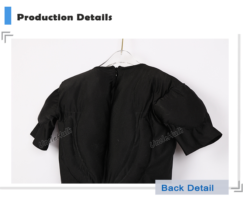 Half Body Slight Muscle Suit Silk Floss Muscle Shape Black Bodysuit - color can be changed | UncleHulk