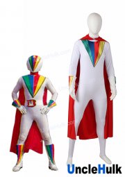 J.A.K.Q.Dengekitai Big One Cosplay Bodysuit - with Cloak and Gloves | UncleHulk