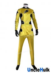 Juken Sentai Gekiranger Yellow Juken Lily Cosplay Bodysuit - Satin Fabric | UncleHulk