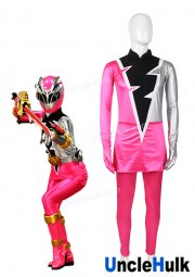 Kishiryu Sentai Ryusoulger Pink Solider Asuna Cosplay Costume - with gloves | UncleHulk