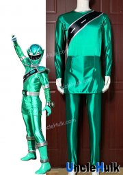 Mashin Sentai Kiramager Kiramai Green Cosplay Satin Bodysuit - with gloves | UncleHulk