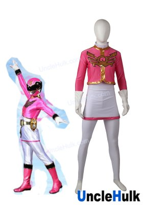 Tensou Sentai Goseiger Pink Ranger Eri Cosplay Bodysuit - include gloves | UncleHulk