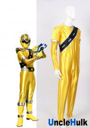 Mashin Sentai Kiramager Kiramai Yellow Cosplay Satin Bodysuit - with gloves | UncleHulk