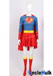 Super Lady Cosplay Costume with Cloak Belt and Leg Sleevelets | UncleHulk