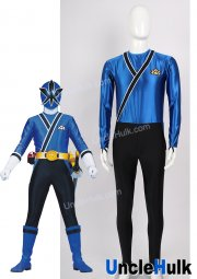 Samurai Sentai Shinkenger Shinken Blue Cosplay Costume | UncleHulk