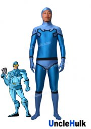 Blue Beetle Costume Blue and Sky Blue Spandex Costume | UncleHulk